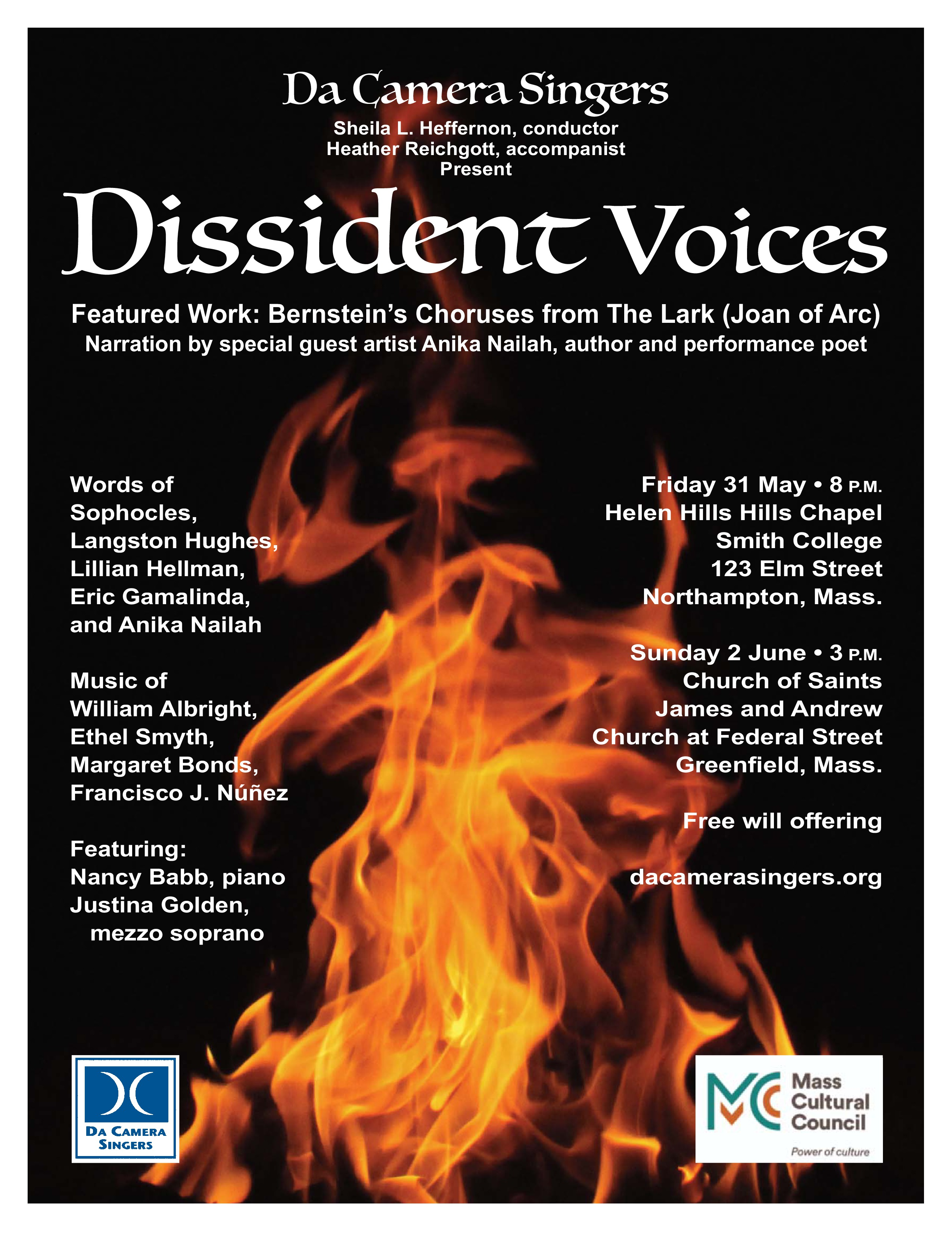 Dissident Voices: Northampton, MA @ Helen Hills Hills Chapel, Smith College